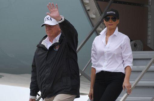 Trump besucht zum zweiten Mal Überschwemmungsgebiete