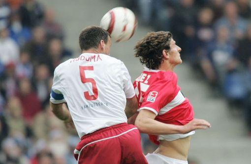 In der Bundesliga darf der in Riedlingen geborene Angreifer erstmals im Mai 2004 ran – Gegner ist der Hamburger SV. Foto: Baumann
