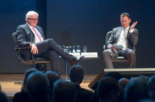 Im Gespräch mit Chefredakteur Reisinger: Außenminister Steinmeier Foto: Martin Stollberg