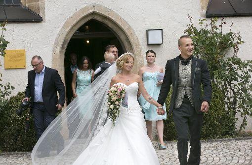 ... haben am Samstag in der Stephanuskirche in Echterdingen geheiratet. Foto: Horst Rudel
