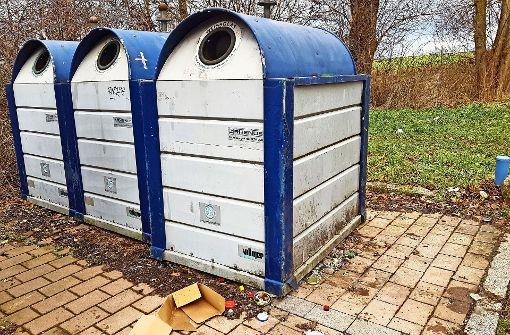 Anwohner ärgern sich über volle Altglas-Container