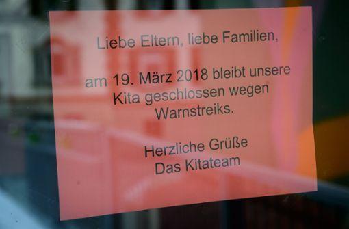 Warnstreik geht   in Stuttgart weiter