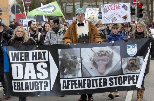Das Max-Planck-Institut für biologische Kybernetik in Tübingen forscht nahc anhaltender Kritik von Tierschützern nicht mehr an Affen. Foto: dpa