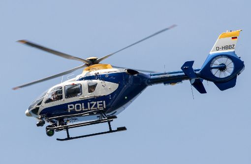 Der Hubschrauber sucht auch nachts