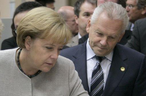 Kanzlerin Angela Merkel steht zum Projekt Stuttgart 21, Bahnchef Rüdiger Grube bittet um Geld vom Bund. Foto: dpa