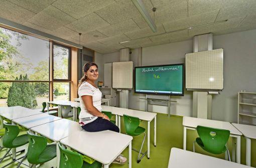 Startklar für das neue Schuljahr: Maria Lehmann zählt zu dem Pädagogenteam, das  an der Schillerschule federführend  für das interaktive Lernen verantwortlich ist. Foto: factum/Weise
