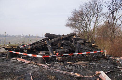 Schutzhütte abgebrannt