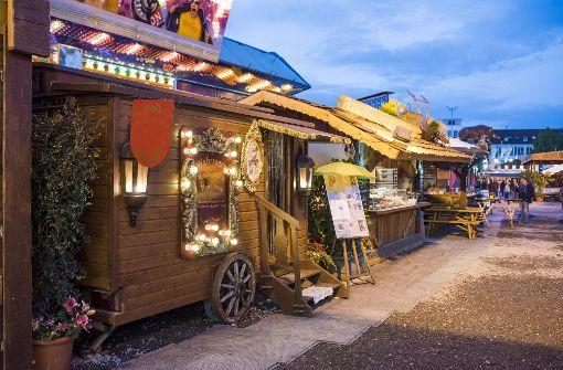 In diesem Holzwagen lebt und arbeitet Madame Odessa.  Foto: 7aktuell.de/Oskar Eyb