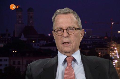 Michael Hubertus von Sprenger ist Staatspräsident Erdogans deutscher Anwalt Foto: ZDF