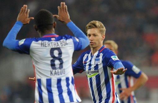 Hertha setzt sich in Spitzengruppe fest
