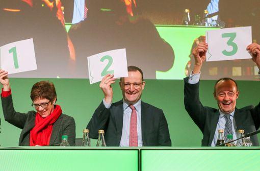 Wer wird am Freitag die neue Nummer eins der CDU – Foto: dpa