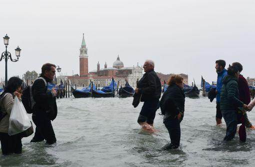 Venedig versinkt im Wasser