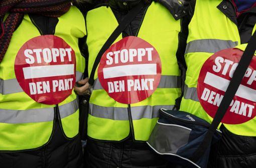 Der Migrationspakt ist das Thema einer AfD-Kundgebung am Wochenende. Foto: dpa (Symbolbild)