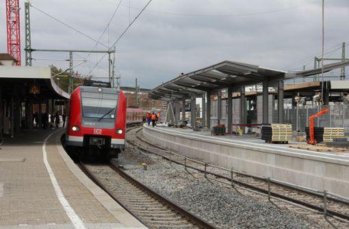 Weniger Züge wegen S-21-Arbeiten unterwegs