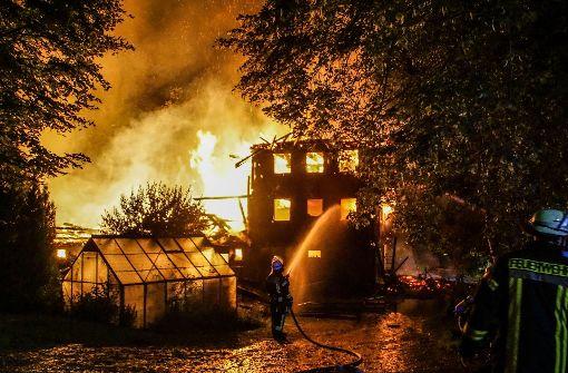 Uralter Bauernhof im Schwarzwald abgebrannt