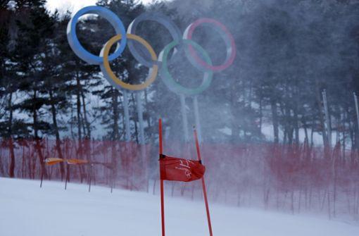 Der Olympia-Zeitplan der Alpinen Ski-Wettbewerbe in Pyeongchang ist völlig aus den Fugen geraten. Foto: AP