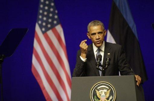 US-Präsident Barack Obama bei seinem Besuch in Estland. Foto: dpa