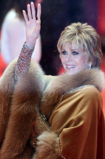 Kann diese Frau wirklich 75 sein? Schauspielerin Jane Fonda brachte ein wenig ... Foto: dpa