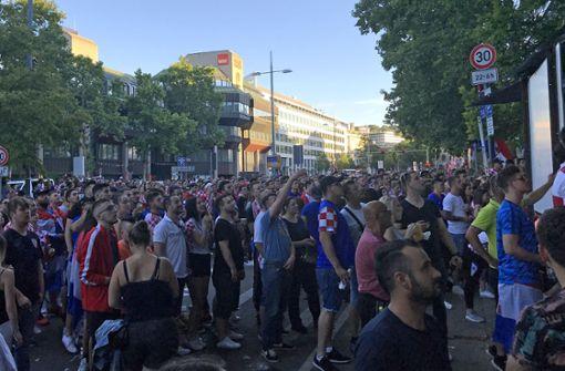 So feierten die Kroaten in Stuttgart den Einzug ins WM-Viertelfinale