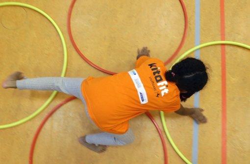 Beim Kitafit-Programm sind Kita-Kinder mit Eifer bei der Sache Foto: Pressefoto Baumann