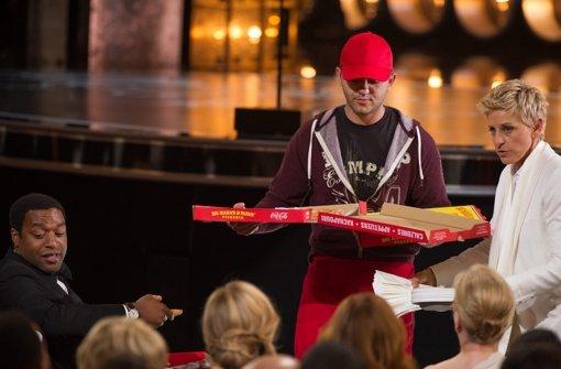 Ein Stück Pizza für die Hollywood-Stars