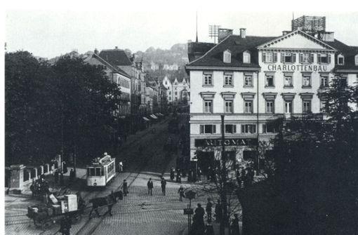 Der Charlottenplatz vor etwa  100 Jahren.  Foto: Archiv