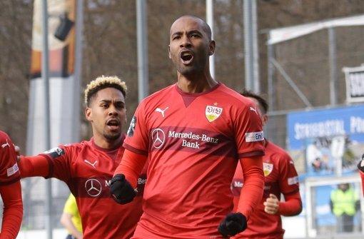 Cacau will es beim VfB Stuttgart II nicht bei einem Treffer belassen. Trifft er in der Partie bei Fortuna Köln? Foto: Pressefoto Baumann