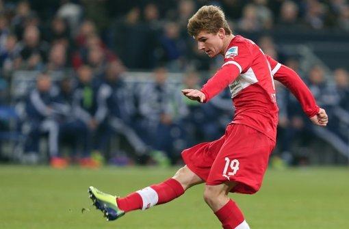 Timo Werner zündete den Turbo  – einer der wenigen lichten Momente des VfB Stuttgart. Klicken Sie sich durch unsere Noten für die Roten. Foto: Pressefoto Baumann