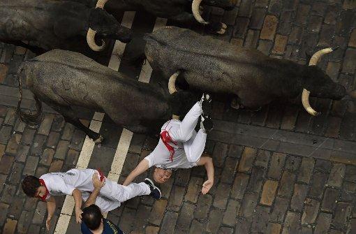 Touristen unter Verletzten bei Stierhatz