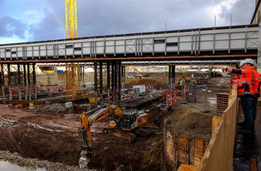 Die Baustelle des Tiefbahnhofs ist vom 5. bis 7. Januar öffentlich zugänglich. Foto: Lichtgut/Max Kovalenko