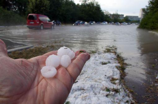 Starkregen, Blitz und Donner schocken den Kreis Ludwigsburg