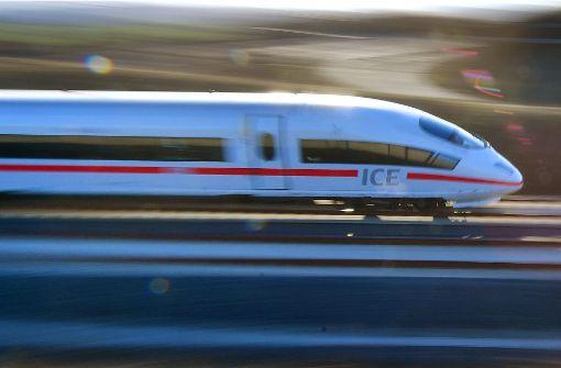 ICE-Reisende nach Stuttgart werden ausgebremst