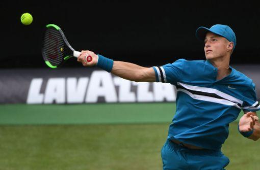 Tennis-Talent Rudi Molleker ist beim Mercedes-Cup in Stuttgart ausgeschieden. Foto: dpa