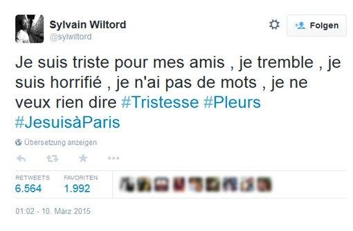Sylvain Wiltord zeigt seine Bestürzung in einer emotionalen Botschaft auf Twitter. Foto: https://twitter.com/sylwiltord