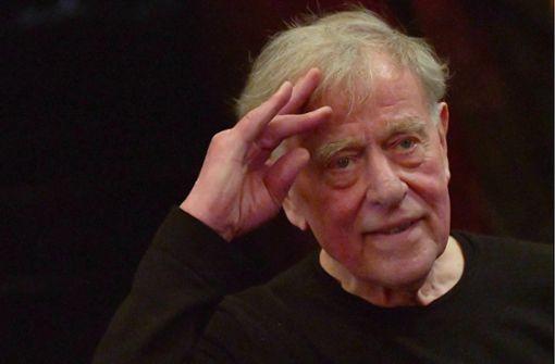Er wird zum heftigsten Kretschmann-Kritiker: der Stuttgart verbundene Theatermann Claus Peymann. Foto: dpa