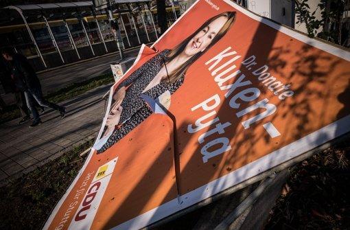 Tausende Wahlplakate in Stuttgart geklaut