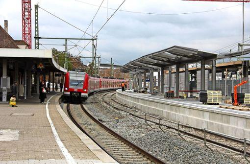 Gleisarbeiten: Zugverkehr          eingeschränkt