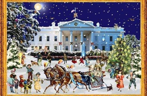 Weißes Haus im Schnee. Foto: Verlag