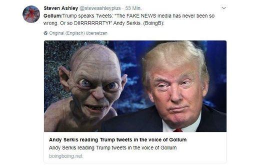 Der Gollum liest Trump-Tweets