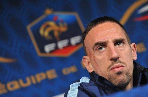 Wird wohl nie mehr für die  Équipe tricolore auflaufen: Bayern-Star Franck Ribéry. Foto: dpa