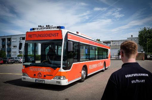 Der  Großraum-Rettungstransportwagen steht in Degerloch für Einsätze bereit. Foto: Lichtgut/Achim Zweygarth