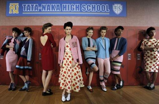 Farbenfroher High-School-Look von Taka Naka. Foto: dpa