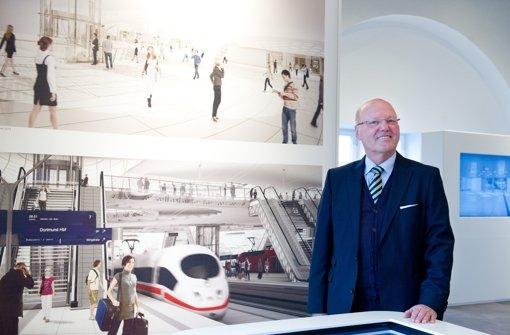 Der neue Vorsitzende des Vereins Bahnprojekt Stuttgart-Ulm, Georg Brunnhuber Foto: dpa