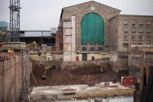 Bereits im Oktober und November 2012 hielten wir die Baufortschritte am Stuttgarter Hauptbahnhof fest. Unsere Fotostrecke zeigt, wie sich die Baustelle seitdem verändert hat. Foto: www.7aktuell.de | Florian Gerlach