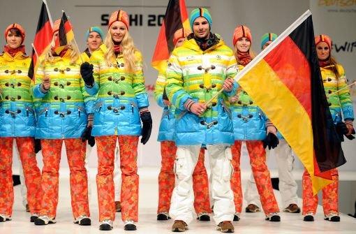Farbenfrohe Kleidung für deutsches Team
