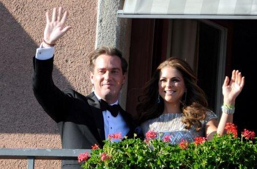 Prinzessin Madeleine and ihr Zukünftiger, der US-Investmentbanker Chris ONeill. Foto: dpa