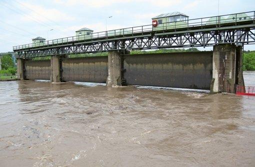 Schotten dicht beim Hochwasser im Juni 2013 Foto: WSV