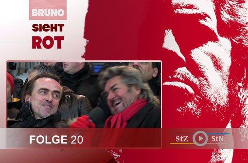Eindrücke der Dreharbeiten für die 20. Folge von Bruno sieht rot im Gazi-Stadion auf der Waldau: Moderator Bruno Stickroth war beim Spiel des VfB Stuttgart II gegen Regensburg (1:0) zu Gast.br Foto: SIR