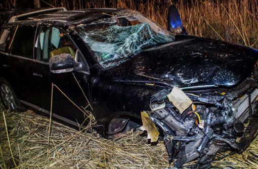 Auf der K 1055 zwischen Sindelfingen und Stuttgart-Vaihingen hat es in der Nacht auf Dienstag einen Unfall gegeben. Foto: SDMG