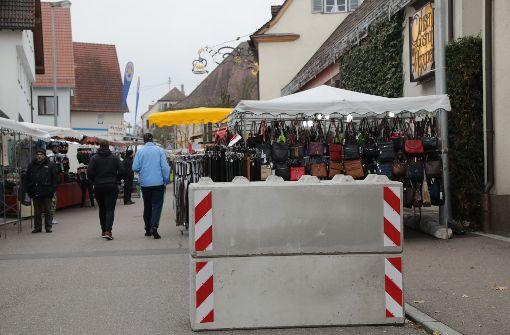 Ein Bollwerk schützt den Martinimarkt